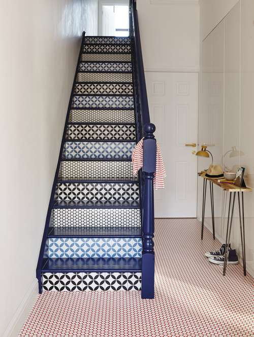 Rococo VInyl Range including_DottyRed_Hallway from Lifestyle Floors ú15.99 sqm